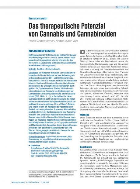 Das therapeutische Potenzial von Cannabis und...