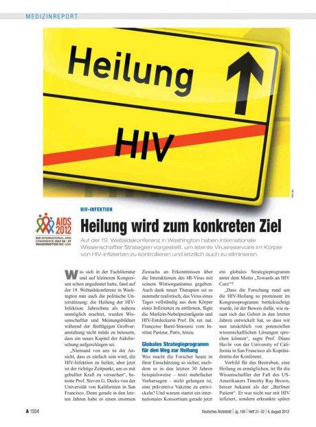 HIV-Infektion: Heilung wird zum konkreten Ziel