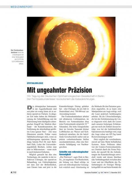 Ophthalmologie: Mit ungeahnter Präzision