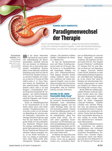 Schwere akute Pankreatitis