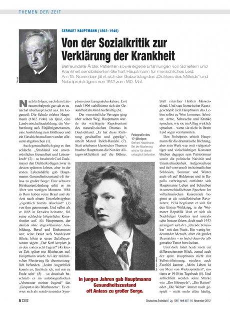 Gerhart Hauptmann (1862–1946)