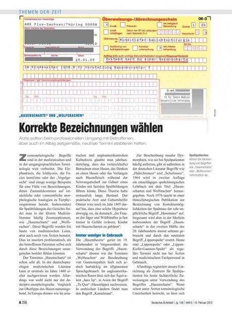 """""""Hasenscharte"""" und """"Wolfsrachen"""": Korrekte Bezeichnungen wählen"""