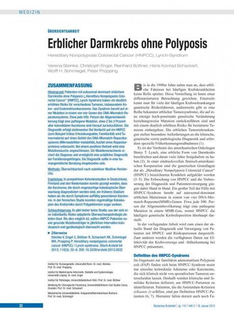 Erblicher Darmkrebs ohne Polyposis