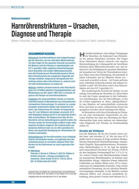 Harnröhrenstrikturen – Ursachen, Diagnose und...