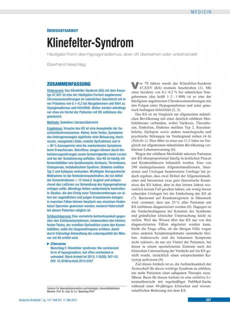 Klinefelter-Syndrom