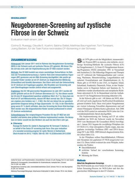 Neugeborenen-Screening auf zystische Fibrose in...