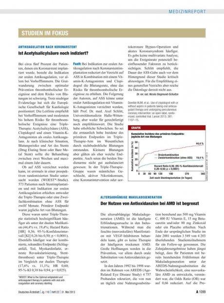 Antikoagulation nach Koronarstent