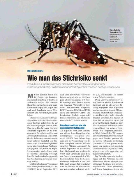 Insektenschutz: Wie man das Stichrisiko senkt
