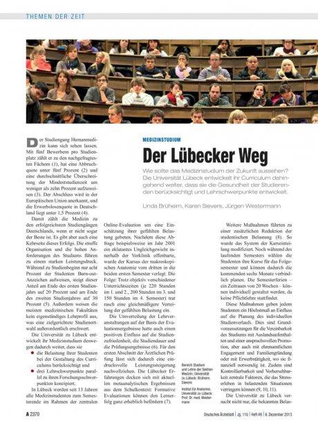 Medizinstudium: Der Lübecker Weg