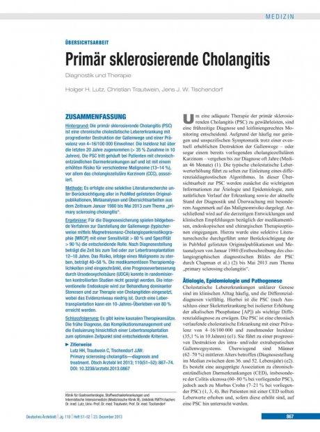 Primär sklerosierende Cholangitis
