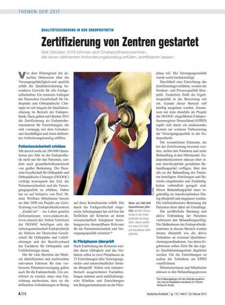 Qualitätssicherung in der Endoprothetik