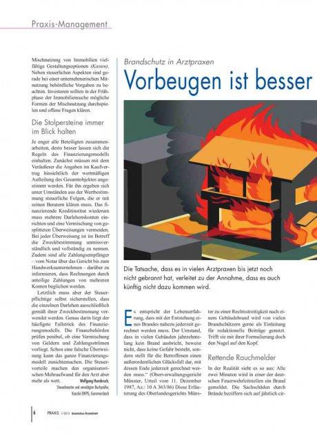 Brandschutz in Arztpraxen