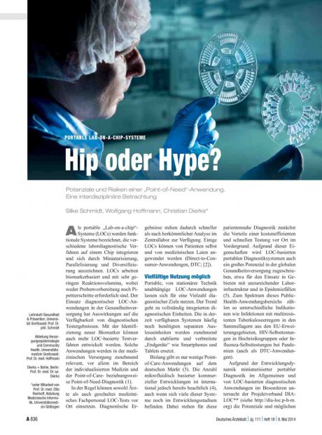 Portable Lab-on-a-chip-Systeme: Hip oder Hype?