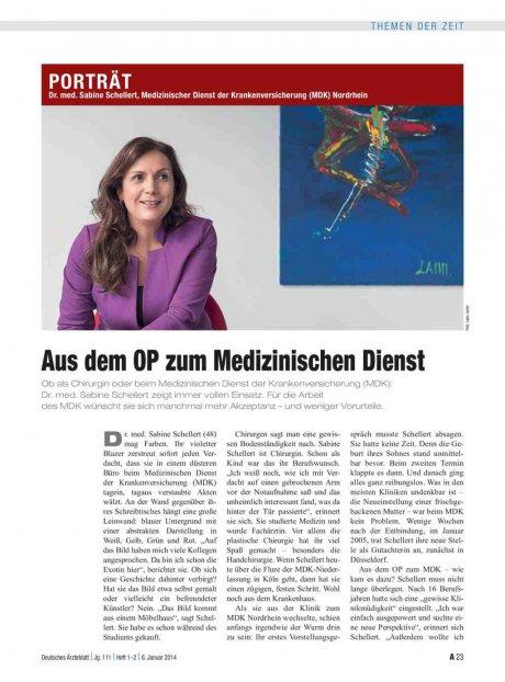 Dr. med. Sabine Schellert, Medizinischer Dienst...