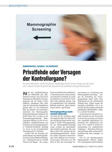"""Mammographie-""""Skandal"""" im Ruhrgebiet"""