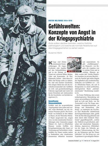 Erster Weltkrieg 1914–1918