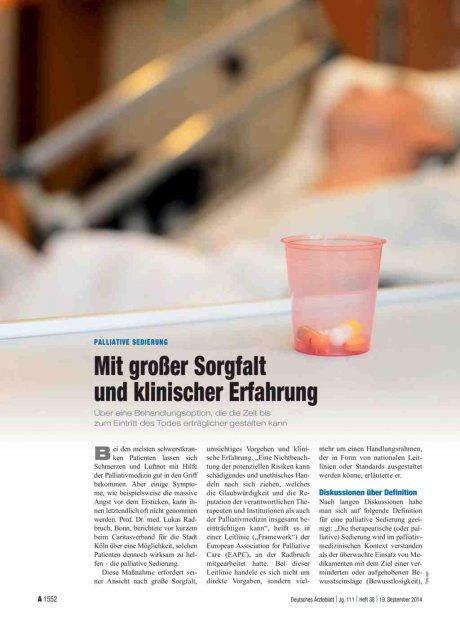 Palliative Sedierung