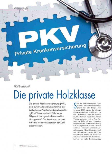 PKV-Basistarif: Die private Holzklasse