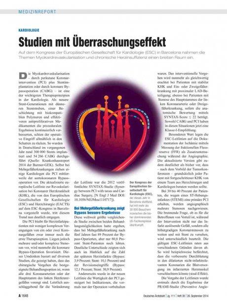 Kardiologie: Studien mit Überraschungseffekt