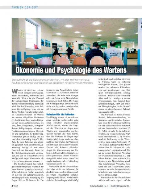 Notaufnahme: Ökonomie und Psychologie des Wartens