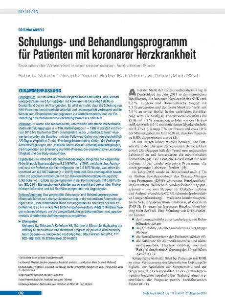 Schulungs- und Behandlungsprogramm für Patienten...