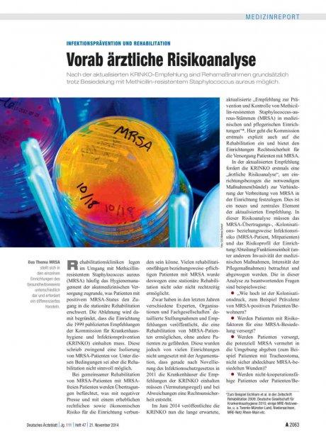 Infektionsprävention und Rehabilitation
