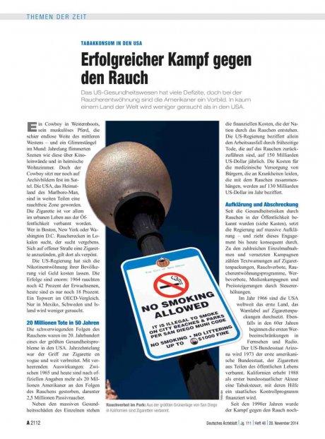 Tabakkonsum in den USA
