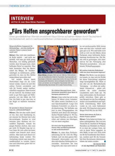 Interview mit Prof. Dr. med. Klaus Dörner,...