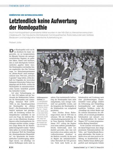 Homöopathie und Nationalsozialismus