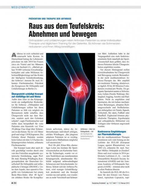 Prävention und Therapie der Arthrose –Raus aus...