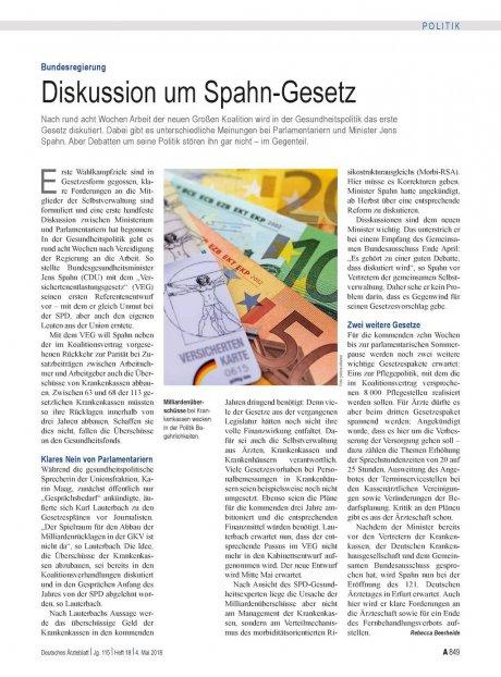 Bundesregierung: Diskussion um Spahn-Gesetz