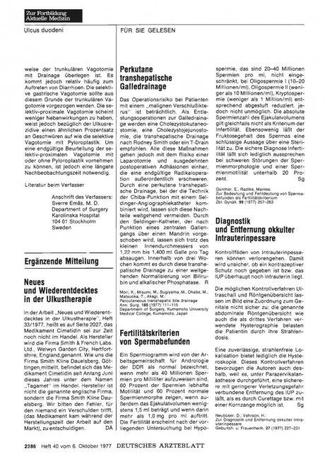 KARZINOMSERIE: Das Osophaguskarzinom