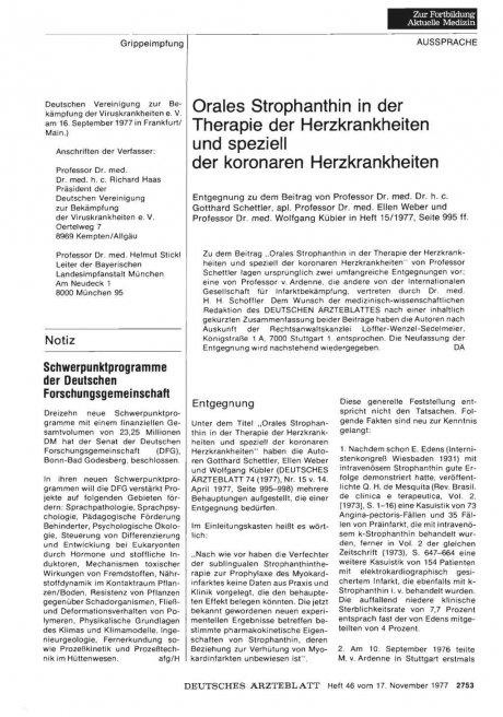 Orales Strophanthin in der Therapie der...