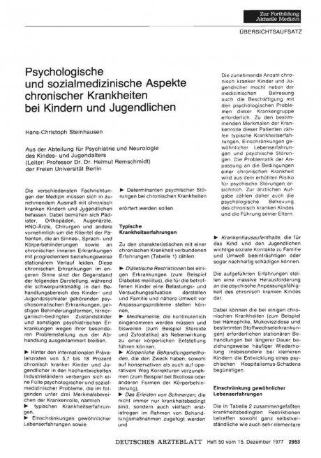 Psychologische und Sozialmedizinische Aspekte...