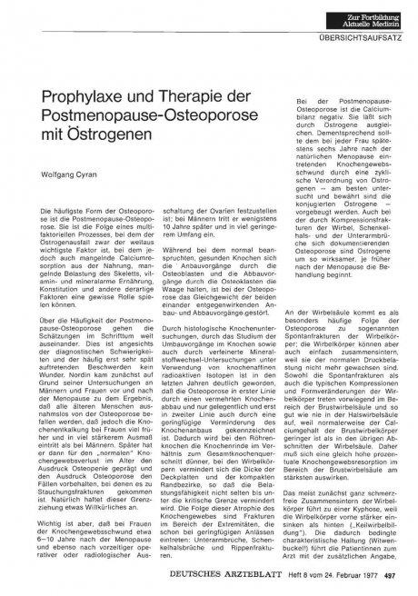 Prophylaxe und Therapie der...