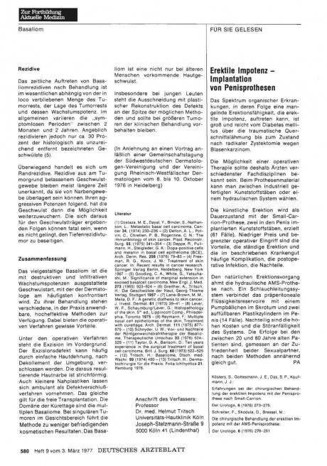 Erektile Impotenz — Implantation von...