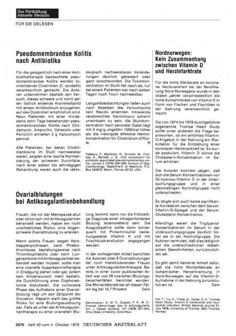 Ovarialblutungen bei Antikoagulantienbehandlung