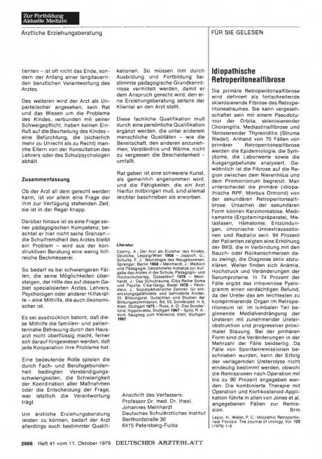 ldiopathische Retroperitonealfibrose
