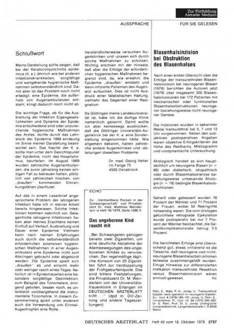 Blasenhalsinzision bei Obstruktion des...