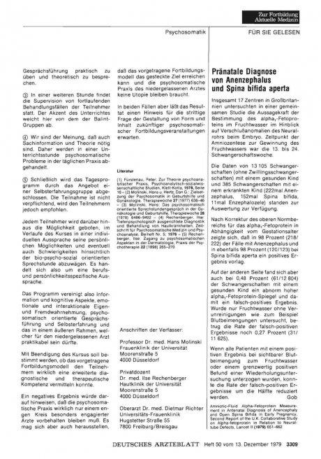 Pränatale Diagnose von Anenzephalus und Spina...