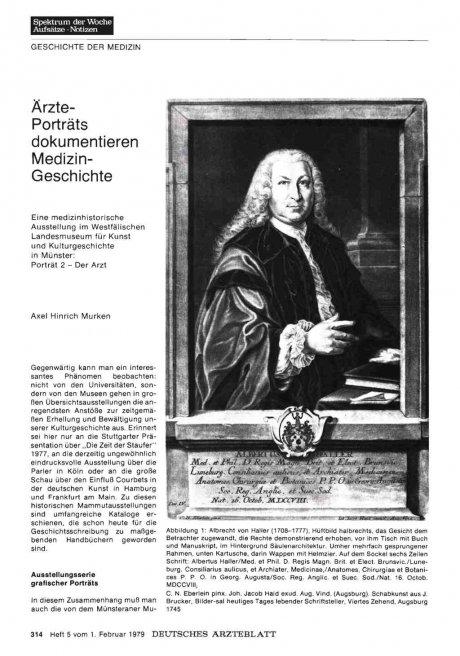 Ärzte-Porträts dokumentieren Medizin-Geschichte