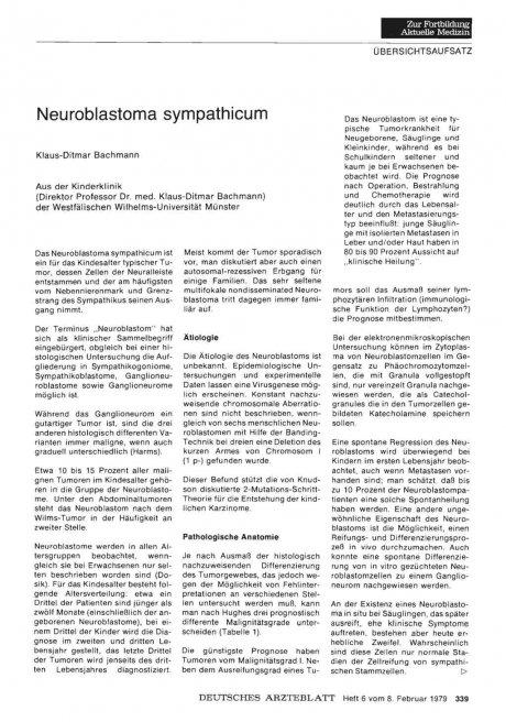 Neuroblastoma sympathicum