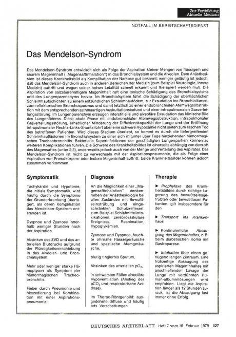 Das Mendelson-Syndrom