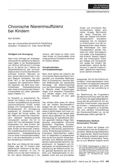 Chronische Niereninsuffizienz bei Kindern
