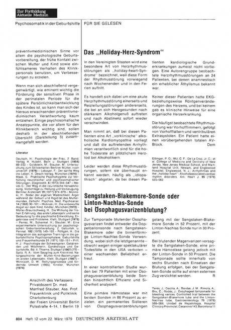 "Das ""Holiday-Herz-Syndrom"""