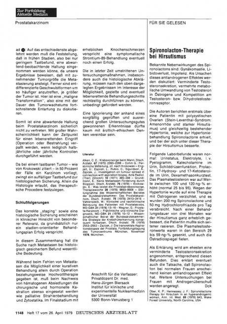 Spironolacton-Therapie bei Hirsutismus
