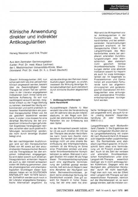 Klinische Anwendung direkter und indirekter...