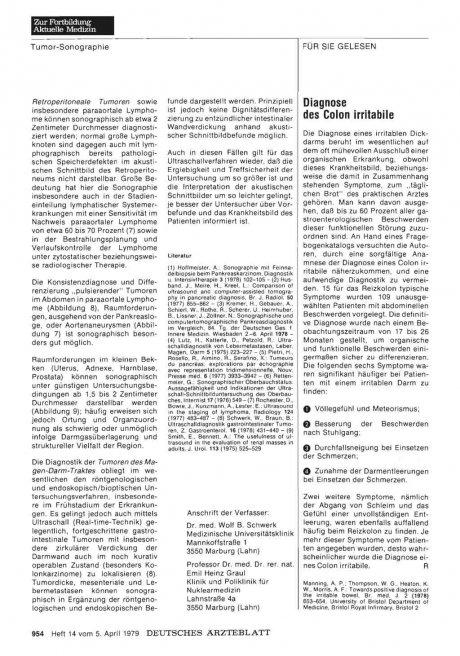 Diagnose des Colon irritabile