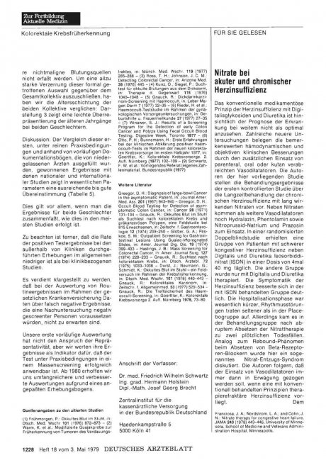 Nitrate bei akuter und chronischer...