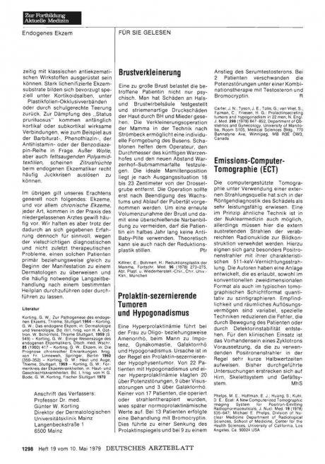 Prolaktin-sezernierende Tumoren und Hypogonadismus